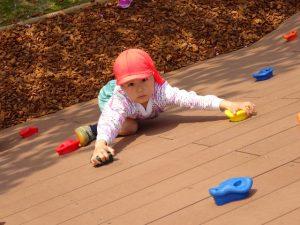<p>ふじぐみさんが登ってた。<br />ぼくも登れるよ。だって、四月からは年長さんだから。<br />チャレンジ、チャレンジ!</p>