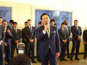 <p>交通安全のイベントぶりに山口県知事さんにお会いしました。<br />今日も知事さんは元気いっぱい。<br />みんな知事さんにパワーをもらった気分になりました。</p>