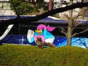 <p>ピンクからブルーになったバスも<br />キリリとカッコいい!<br />思わずカメラで(^_-)-☆</p>